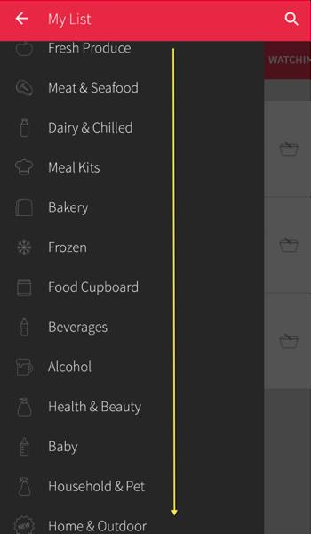 Redmart Online Grocer - Food Categories