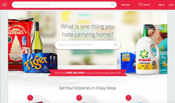 Redmart Online Grocer - Main Website