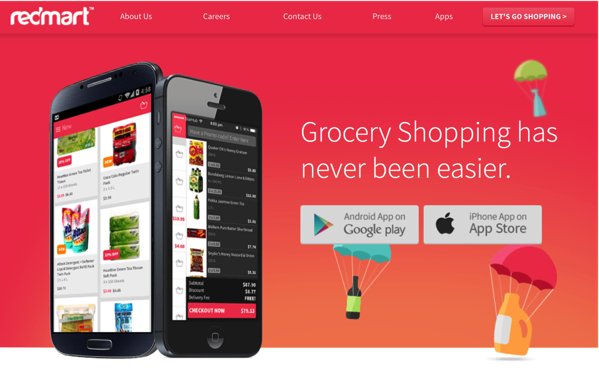 Redmart Online Grocer - Mobile Apps