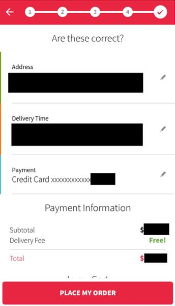 Redmart - Review payment