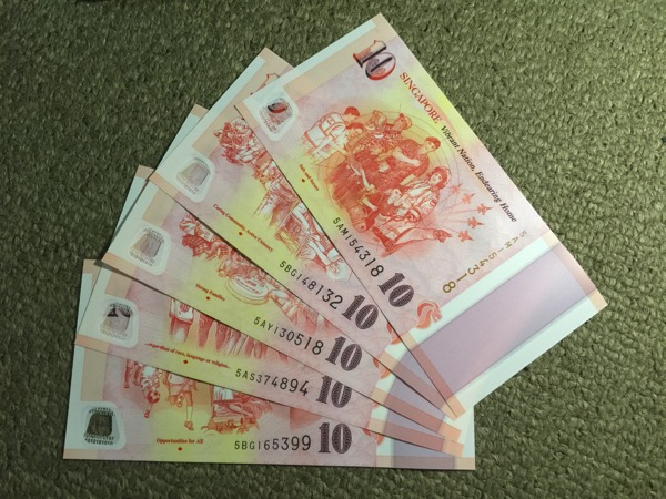 SG50 Commemorative Notes - $10 (5 back designs)