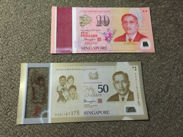 SG50 Commemorative Notes - $50 and $10 notes (Front)