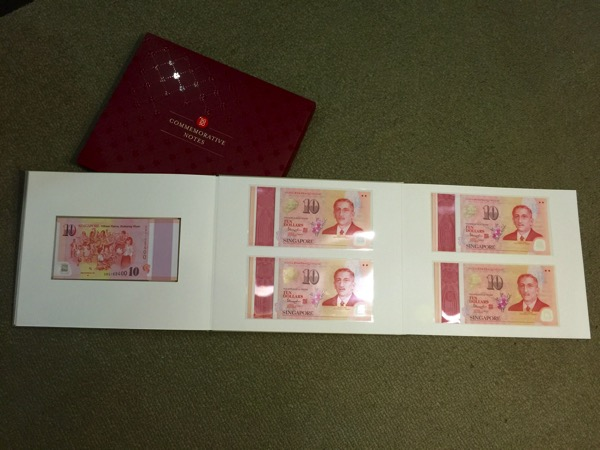 SG50 Commemorative Notes - folio (opened all)