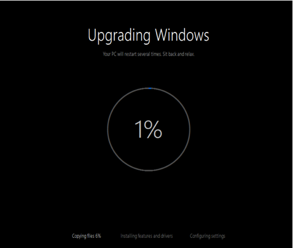 Upgrade to Windows 10 - Finalising