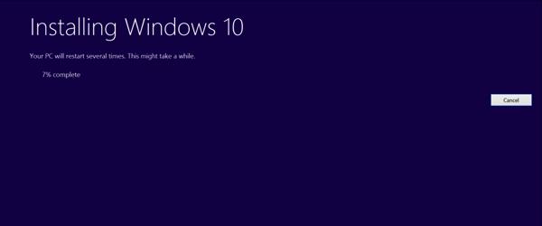 Upgrade to Windows 10 - In progress