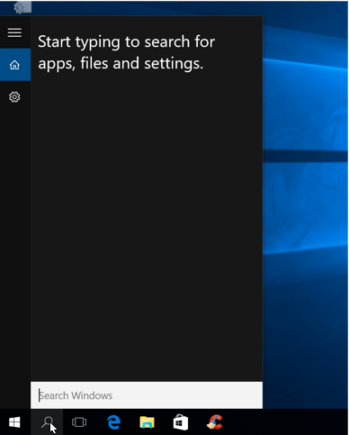 Windows 10 New Features - Cortina Search
