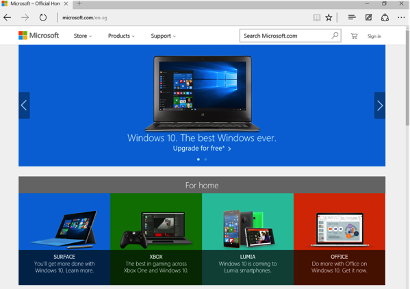 Windows 10 New Features - Edge Browser
