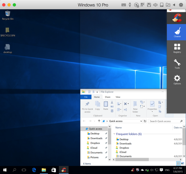 Windows 10 New Features - Quick Snap to screen