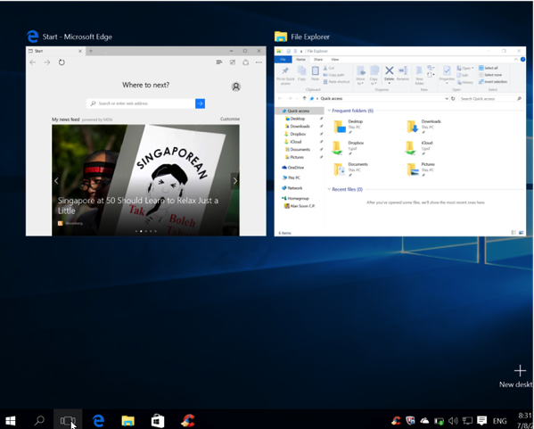 Windows 10 New Features - Task Switcher
