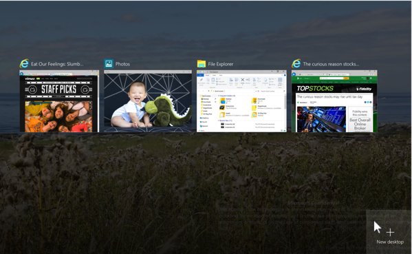 Windows 10 New Features - Virtual Desktop 1