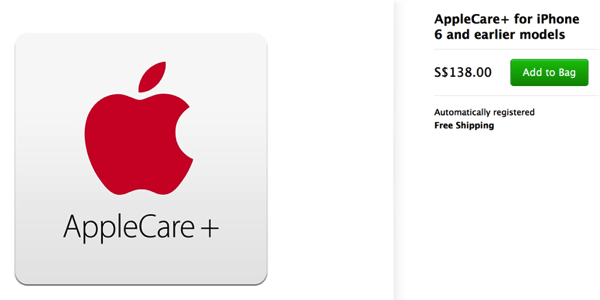 AppleCare + - iPhone 6 and older - cost