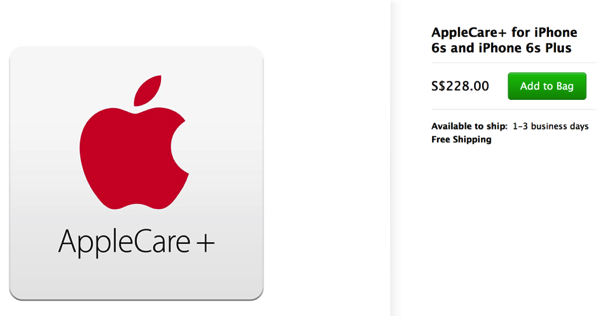AppleCare+ - iPhone 6S - cost