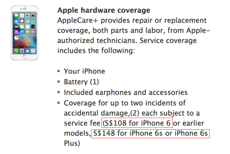 AppleCare + - iphone replacement costs