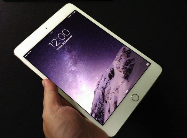 IiPad Mini 4 - hand held
