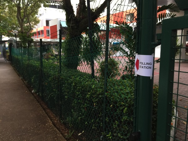 Singapore Election 2015 - Polling Station