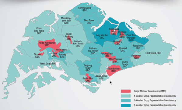Singapore Elections 2015 - Electorial Boundaries