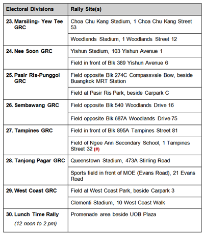 Singapore Elections 2015 - Rally Sites 3