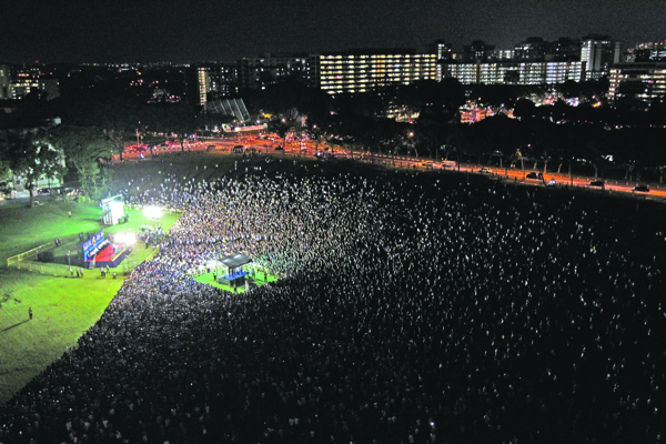 Singapore Elections 2015 - Rally at Hougang Stadium