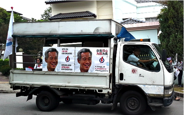 Singapore Elections 2015 - Rally truck