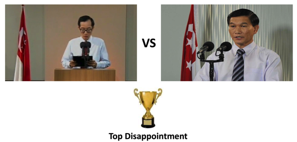 Singapore GE2015 -Top Disappointment