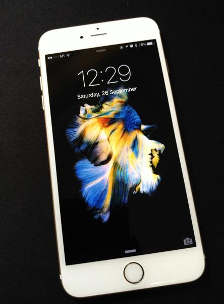 iPhone 6S Plus Gold - homescreen