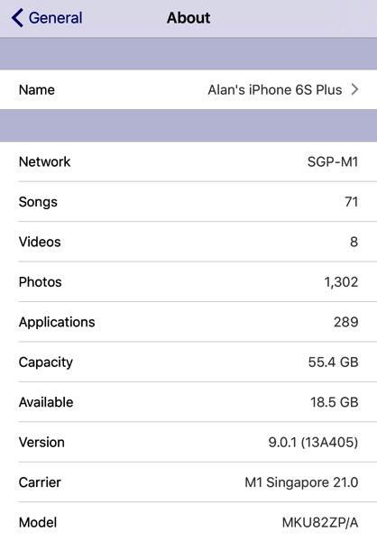 iPhone 6S Plus Gold - phone model