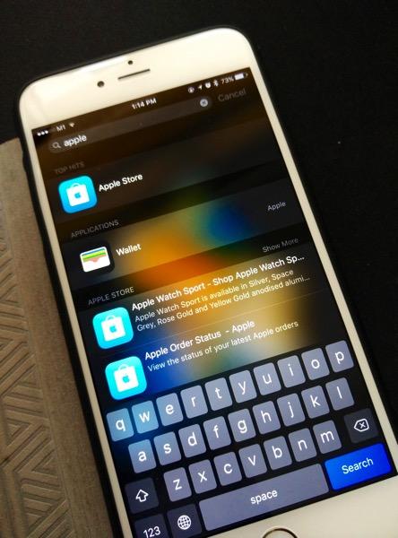 iPhone 6S Plus Gold - siri search