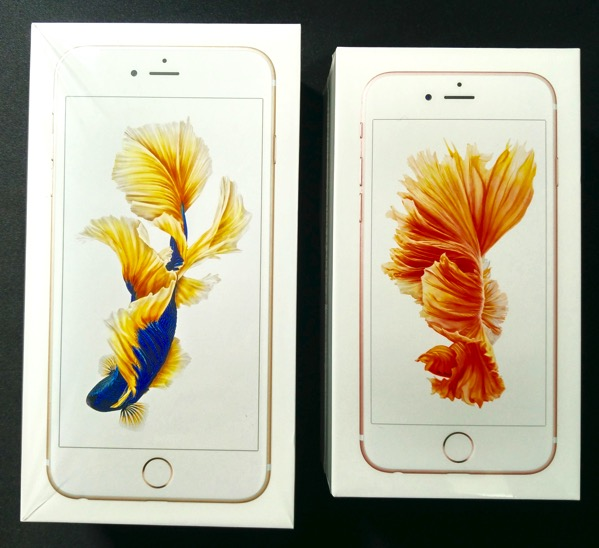 iPhone 6s vs iPhone 6S Plus - box packaging