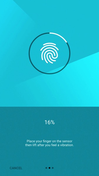 OnePlus Two - Oxygen 2.1 - Setup fingerprint scans 1