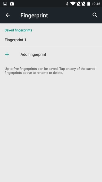 OnePlus Two - Oxygen 2.1 - Setup fingerprint scans 3