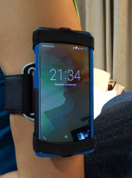 OtterBox Sports Armband - wear it test