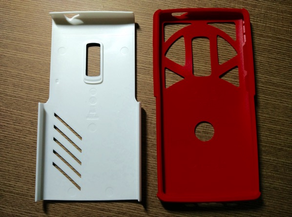 OtterBox for OnePlus 2 - Red - Setup - 2 layers separated