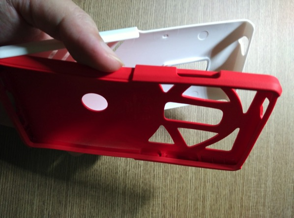 OtterBox for OnePlus 2 - Red - Setup - 2 layers separation