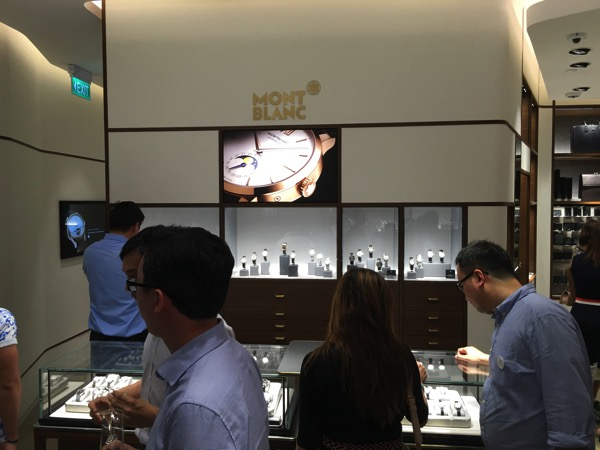 SG Montblanc boutique launch event - collectables