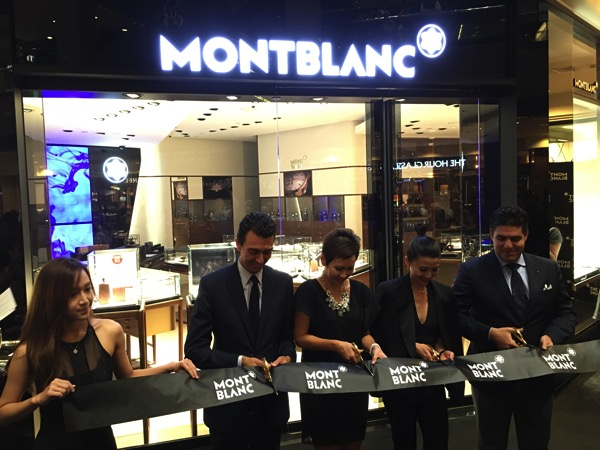 SG Montblanc boutique launch event - cutting ribbon