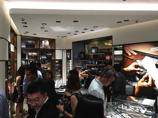SG Montblanc boutique launch event - leather collections
