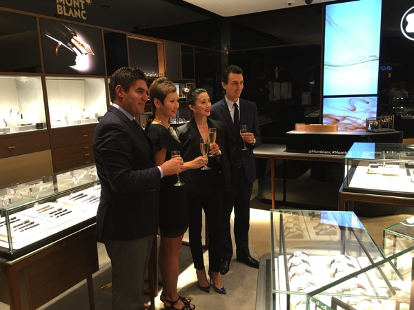 SG Montblanc boutique launch event - tour round