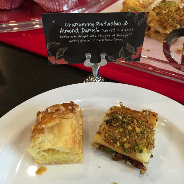 Starbucks Cheer Party - Christmas food - Cranberry Pistachio and Almond Danish