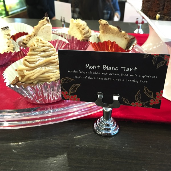 Starbucks Cheer Party - Christmas food - Mont Blanc Tart
