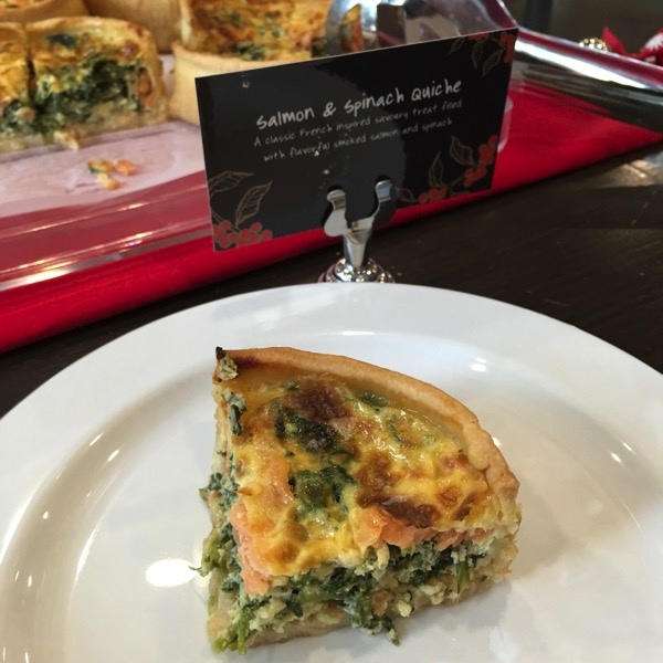 Starbucks Cheer Party - Christmas food - Salmon and Spinach Quiche