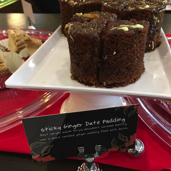 Starbucks Cheer Party - Christmas food - Sticky Ginger Date Pudding