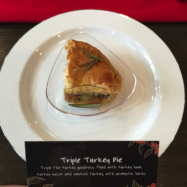Starbucks Cheer Party - Christmas food - Triple Turkey Pie