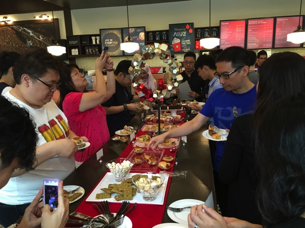 Starbucks Cheer Party - Christmas food tasting