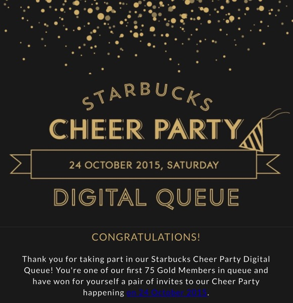 Starbucks Cheer Party - Invitation