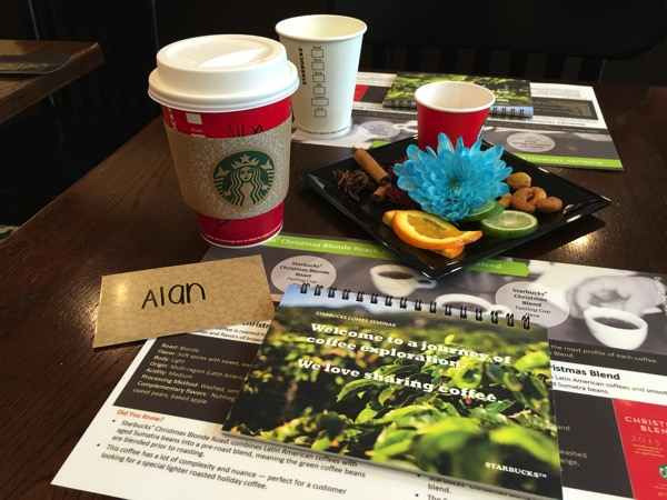 Starbucks Cheer Party - coffee tasting session