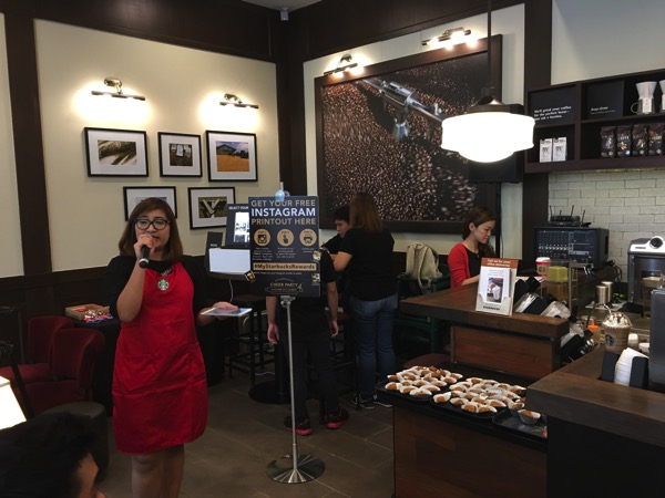 Starbucks Cheer Party - let the party begins
