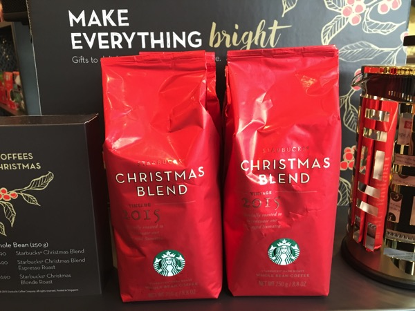 Starbucks Cheer Party - new Christmas Blend coffee grains