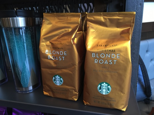 Starbucks Cheer Party - new Christmas Blonde Roast coffee grains