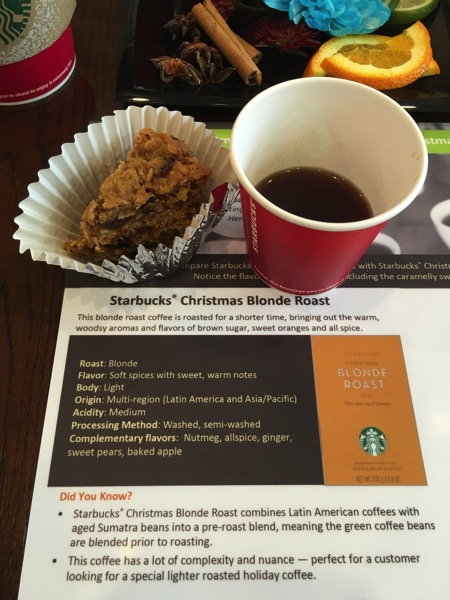Starbucks Cheer Party - new Christmas Blonde Roast coffee