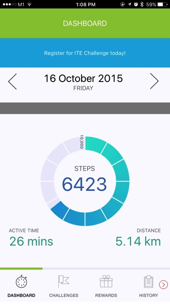 my10ktoday-NationalStepsChallenge - dashboard